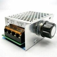 4000W 220V SCR Voltage Regulator Adjust Motor Speed Control Dimmer Thermostat