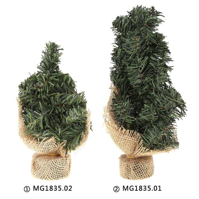 2030cm mini christmas tree artificial xmas hemp trees cedar ornaments festival table miniature snow - Miniature Christmas Tree