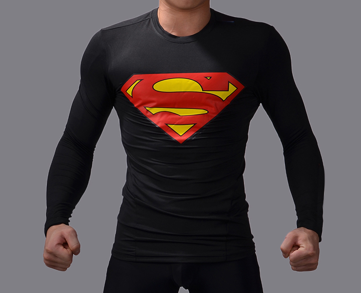 Compare Prices on Superman T Shirt Long Sleeve Black- Online ...