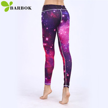 BARBOK New 2017 Autumn yoga leggings hip protection girls running sportswear breathable leggins sport women fitness pants