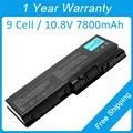 New 9 cell 7800mah laptop battery for toshiba Satellite P300 P305 P205 P205D P305D PABAS101 PA3537U-1BRS PA3536U-1BAS