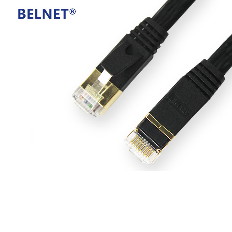 5m-20m CAT7 flat network cable RJ45 OFC Shielded Twisted Pair GigE Lan cable gigabit Ethernet Patch Cord FTP anti-interference cat6 ethernet cable flat utp cat6 network cable gigabit ethernet patch cord rj45 network gige lan cable 2m 5m 10m 20m