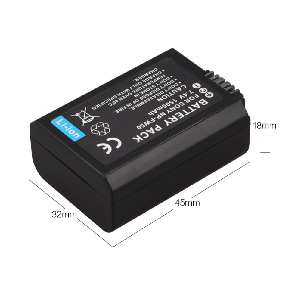 NP-FW50 7.4V NPFW50 NP FW50 Replacement battery For Sony Alpha 7 a7 7R a7R 7S a7S a3000 a5000 a6000 NEX-5N 5C A55