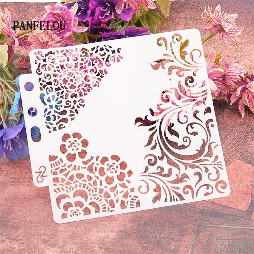 Flower Vines Scrapbook Stencils Spray Plastic Mold Shield DIY Cake Hollow Embellishment Printing Lace Ruler Valentine