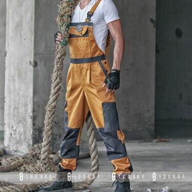 2015 Winter Discount Work Wear Bib Pants Men's Plus Size Tooling Uniform Jumpsuits Loose Casual Overalls Size:M-Xxxl