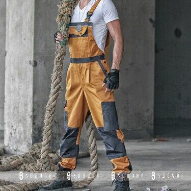 2015 Winter Discount Work Wear Bib Pants Men's Plus Size Tooling Uniform Jumpsuits Loose Casual Overalls Size:M Xxxl
