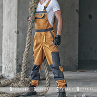 2015 Winter Discount Work Wear Bib Pants Men's Plus Size Tooling Uniform Jumpsuits Loose Casual Overalls Size:M Xxxl