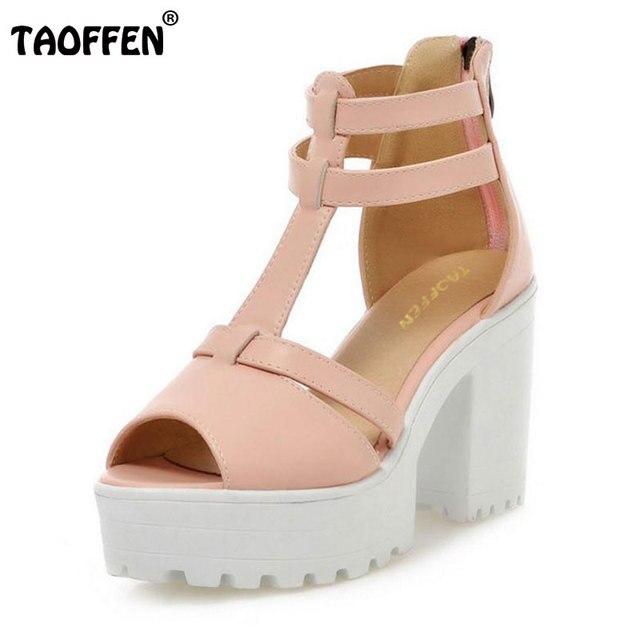 TAOFFEN Damens Damens High Heel Sandales Sexy Peep Toe Schuhes Damens TAOFFEN Heels ... 8c4831