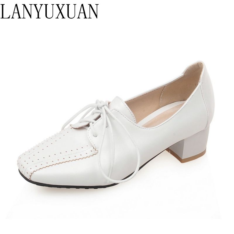 LANYUXUAN 2017 New Big&small size 28-52 fashion casual Shoes Platform High Heels Women Pumps Spring Autumn Shoes Woman E1209 lanyuxuan 2017 new hot big