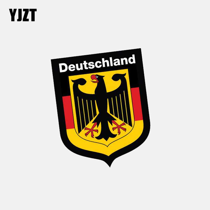 YJZT 10.5CM*8.4CM German Shield Deutschland Sticker Car Flag Decal Car Sticker 6-2625