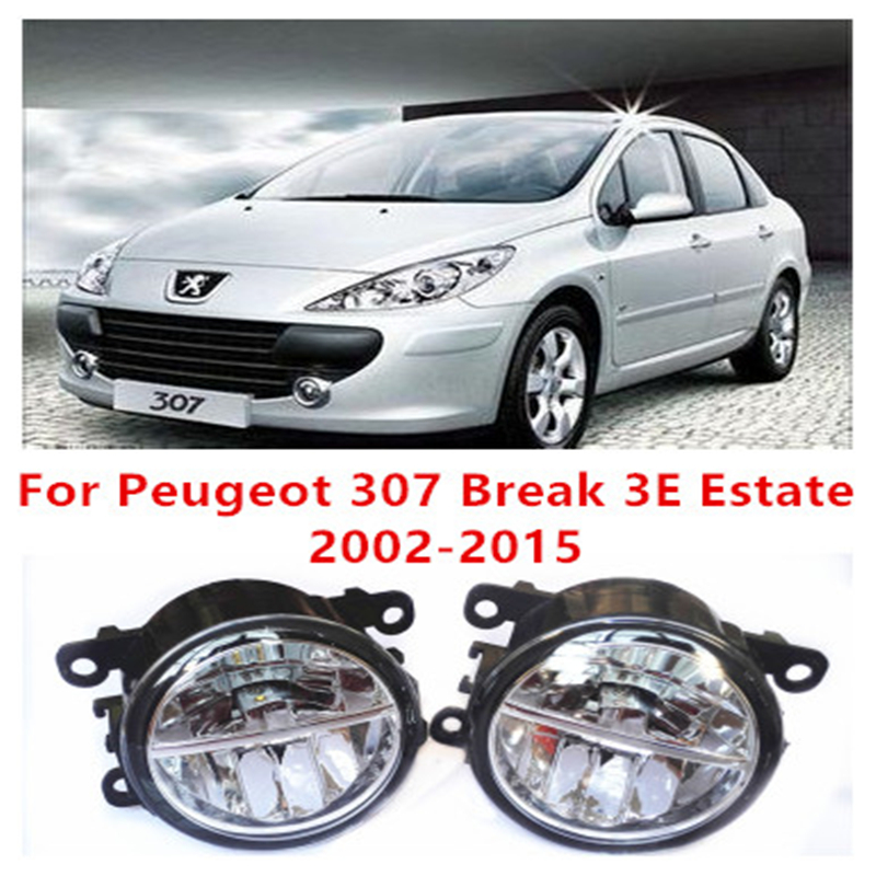 For Peugeot 307 Break 3E Estate  2002-2015 10W Fog Light LED DRL Daytime Running Lights Car Styling lamps corporate real estate management in tanzania