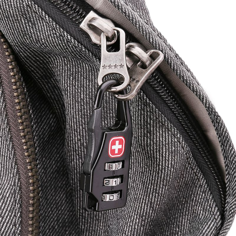 THINKTHENDO Swiss Cross Symbol Combination Safe Code Mini Padlock Luggage Travel Number Lock