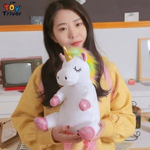 Image 5 - Cute Kawaii Unicorn Backpack School Shoulder Bag Bookbag Plush Toy Triver Baby Kids Children Girl Boy Girlfriend Student Gift