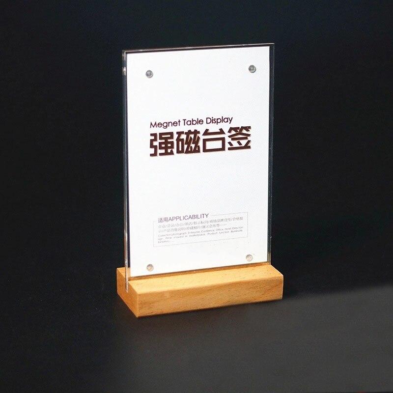 DEZHI-A6/A5/A4 Wood Desktop Drinks…
