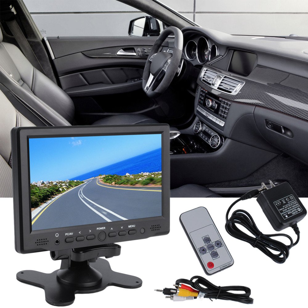 Newest 7inch 800x 480 TFT Color LCD AV Vehicle Car Rearview Monitor HDMI VGA AV with Speaker Hot Drop Shipping 7inch 800x 480 tft color lcd av vehicle car rearview monitor hdmi vga av new dropping shipping