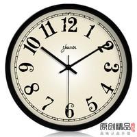 Large wall clock mute quartz clock and watch brief modern clock derlook pocket watch