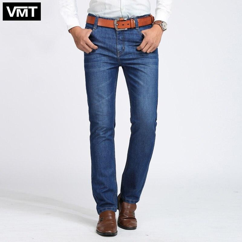 New Arrival Men's   Jeans   Thin Denim Classic   Jeans   Slim Regular dark blue light blue color Casual Pants size:29-40 (No belt)