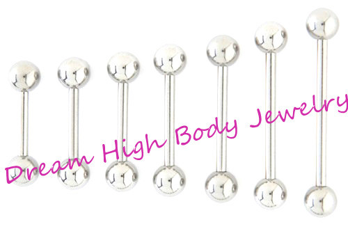 Straight Barbell Tongue Bar Tongue Ring Nipple Piercing Eyebrow Tregus 1 2mm 1 6mm 6mm 22mm