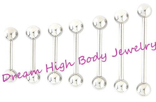 Gerade Langhantel Zunge Bar Zunge Ring Nipple Piercing Augenbraue Tregus 1,2mm 1,6mm 6mm 22mm länge Ohr Stud Fancy Schmuck-in Körperschmuck aus Schmuck und Accessoires bei  Gruppe 1
