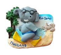 Hot Sale Cute Thai Elephant Handmade Painted Aromatherapy 3D Fridge Magnets Travel Souvenirs Refrigerator Magnetic Stickers