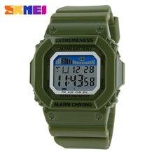 Skmei reloj Unisex de moda Casual relojes Relogio Masculino estudiante de colores para Womenes resistente al agua relojes de alarma