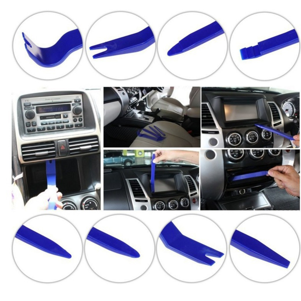 7pcs set car interior dash radio door clip panel trim open removal tools kit. Black Bedroom Furniture Sets. Home Design Ideas