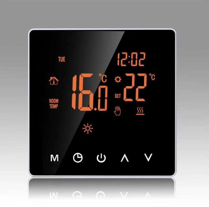 Central Air Conditioning LCD Thermostat Air Conditioning Temperature Controller Cooling Heating Intelligent Control Panel