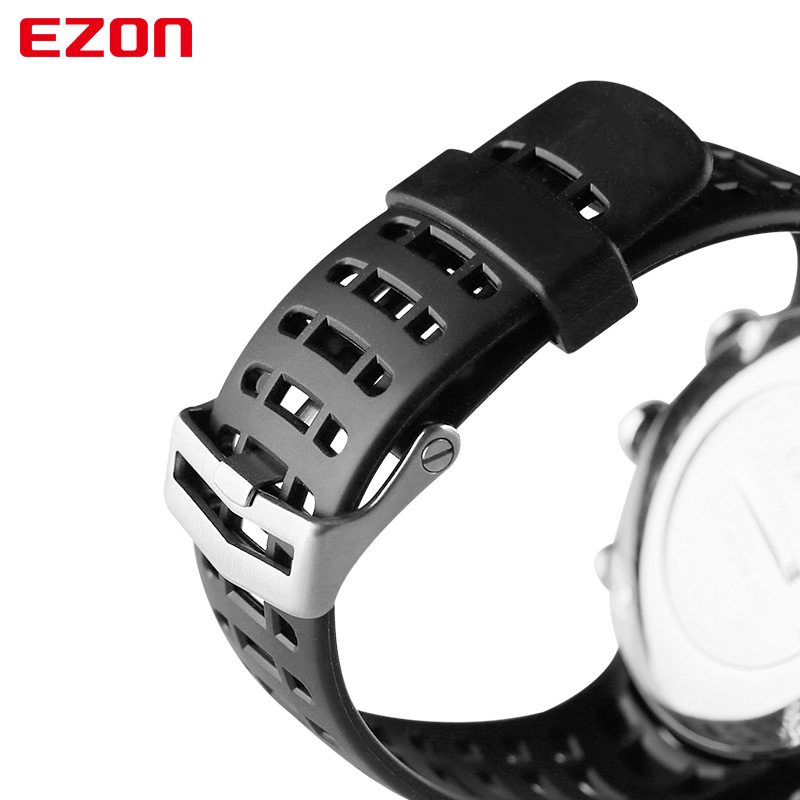 Image 5 - Original 24mm Black Silicone Rubber Watch Strap Sports Watch Band For Wristwatch EZON L008 T023 T029 T031 G1 G2 G3 S2 H001 T007-in Watchbands from Watches
