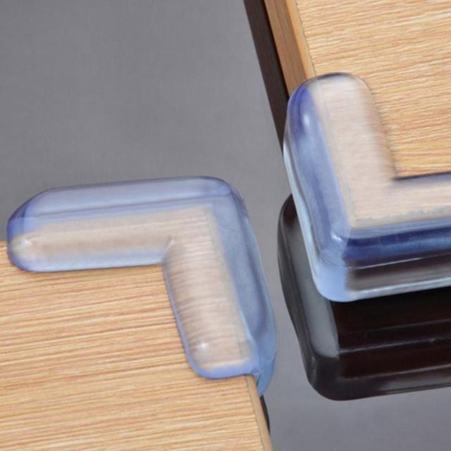 4 piezas Protector de seguridad de silicona para bebés protección de esquina de la Mesa de protección de esquinas anticolisión para niños