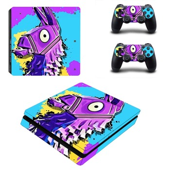 Battle Royale PS4 Slim Skin Sticker Decal for PlayStation 4 Console and Controller Skin PS4 Slim Sticker Vinyl new popular cod decal skin cover for playstation 4 slim for ps4 slim console stickers skin 2 pcs controller vinyl skins