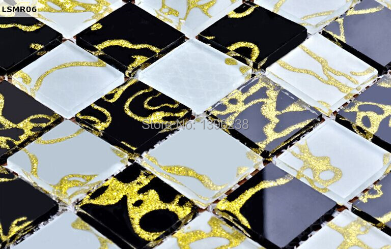 FREE SHIPPING! Crystal Black white glass mosaic tile mirror kitchen background waistline sticker home decor 3D wallpaper,LSMR06 free shipping aaa 5301 white opal color 3mm 4mm 5mm 6mm 8mm crystal glass bicone beads