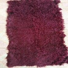 Real 2017 Genuine Real Kalgan blanket for garment DIY Fur Rug Bag Craft Accessory New Leather Decorative Blankets Doll