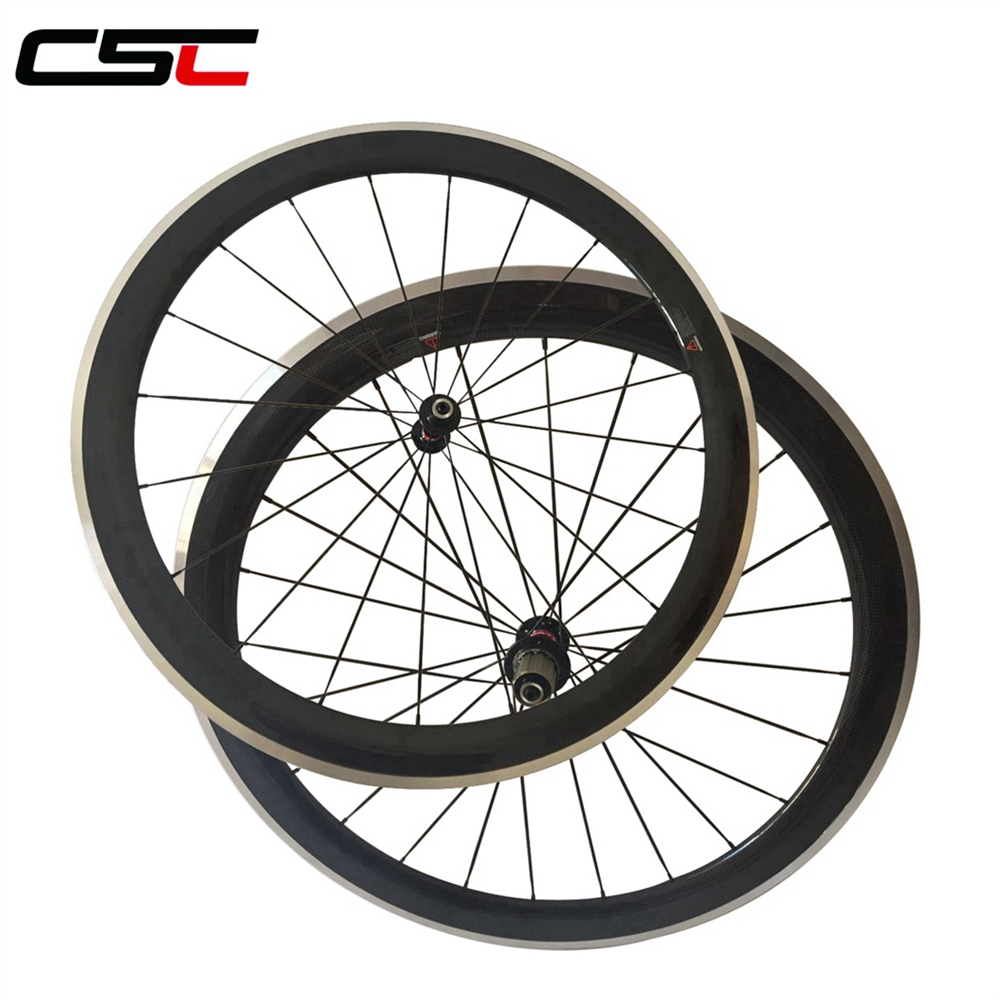 Only rear road wheel 80mm carbon fiber racing wheel 700C,alloy brake wholesale