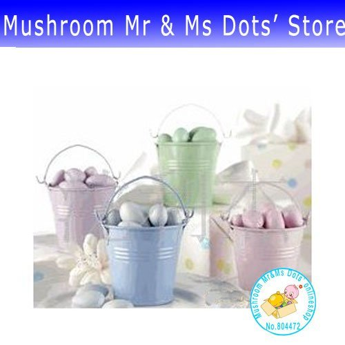 300pcs/lot IRON TIN WEDDING TIN Wedding gift, small metal pail, candy boxes, candy bucket, European, 0495