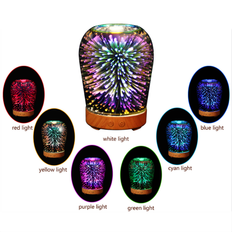 3D Essential Oil Aroma Diffuser Air Humidifier 7 Color LED Light Ultra-quiet Portable Ultrasonic Humidifier Aromatherapy Home недорого