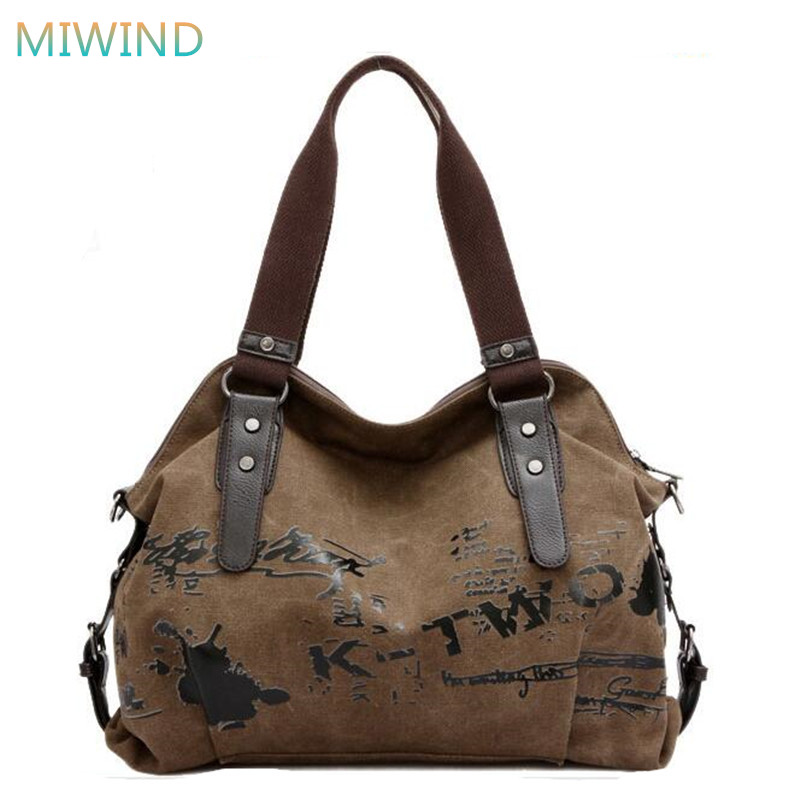 2017 New Graffiti Printing Women Handbags Famous Brands Canvas Tote Bag Bolsas Femininas de ombro sac a main Women Bag CB197 joyir fashion genuine leather women handbag luxury famous brands shoulder bag tote bag ladies bolsas femininas sac a main 2017