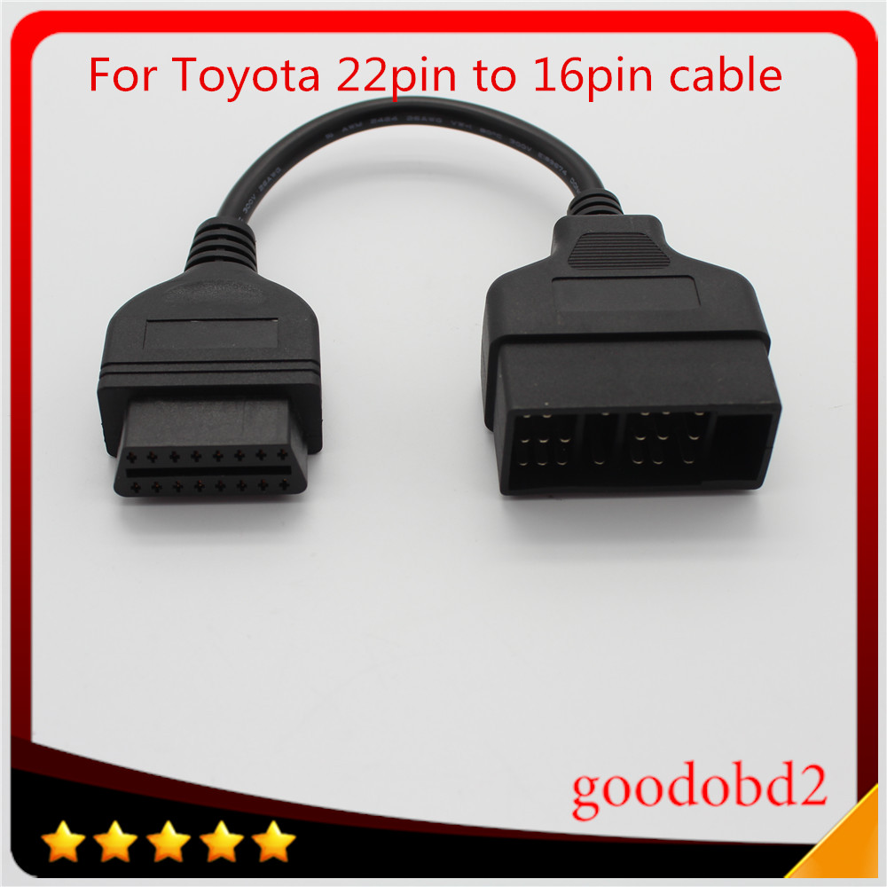 For <font><b>Toyota</b></font> <font><b>22</b></font> <font><b>Pin</b></font> To 16 <font><b>Pin</b></font> Female OBD 2 obdii <font><b>obd2</b></font> Cable Connector <font><b>Adapter</b></font> Cable Car Diagnostic Tool image