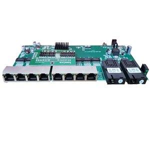 Image 2 - PoE inverse 8x10/100/1000M RJ45 Gigabit Ethernet commutateur Ethernet Fiber optique monomode et 2 SC carte de Port de fibre