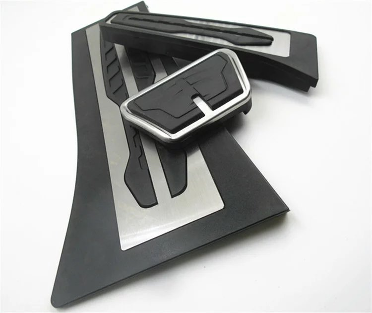 Non Drilling ! For BMW X5 X6 F15 F16 E70 E71 E72 Gas Fuel Brake Footrest Pedal Plate Pad AT Pedals Pad Car Accessories