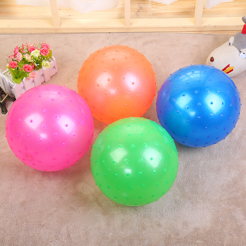 Toy Rubber Balls : Large size kids inflatable rubber ball colorful plastic