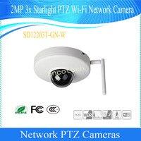 Free Shipping Dahua Original English CMOS Security CCTV 2M 3x Starlight PTZ WIFI Network Camera No