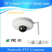 Free Shipping Dahua Original English CMOS Security CCTV 2M 3x Starlight PTZ WIFI Network Camera Without