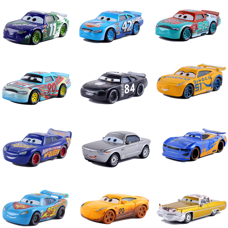 Cars Disney Pixar Car 3 Car 2 McQueen Car Toy 1:55 Die Cast Metal Alloy Model Toy Car Children's Toys Birthday Christmas Gift