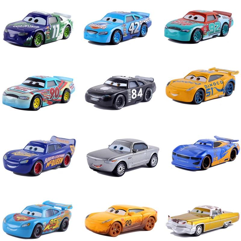Cars Disney Pixar Car 3 Car 2 McQueen Car Toy 1:55 Die Cast Metal Alloy Model Toy Car Children's Toys Birthday Christmas Gift