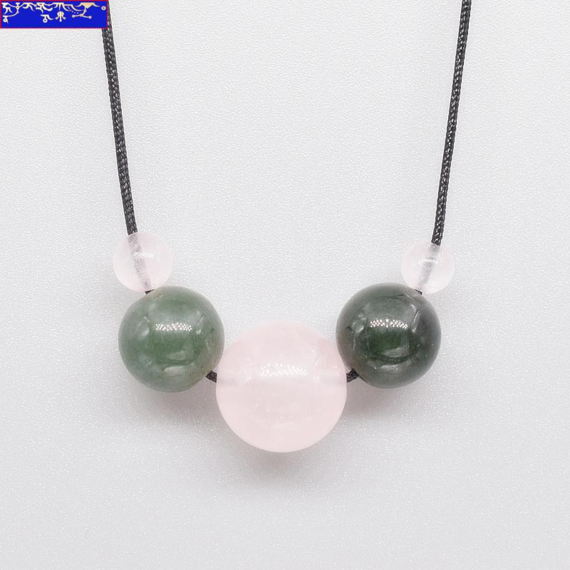 Chinese Chinese S925 Silver & Natural Jadeite Jade Handwork Nice Green Leaf Rare Pendant Antiques
