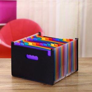 Image 5 - Carpeta de archivos A4 con gran oferta de 24 bolsillos, organizador portátil de archivos de negocios, suministros de oficina, soporte para documentos, Archivador