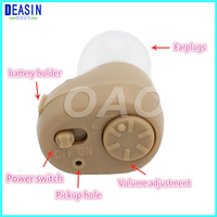 Small Inner Ear Invisible Hearing Aid Best Sound Amplifiers Deaf aid Adjustable Wireless Mini Ear Aid Long life Electronics
