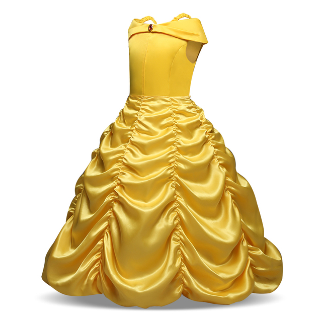 Beauty and The Beast Belle Dresses for Girls Cosplay Costumes Children Clothing Princess Girls Dress Birthday Clothes 2
