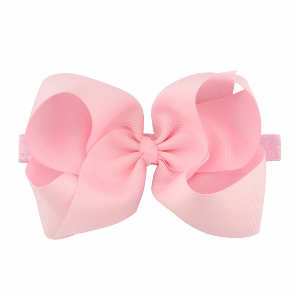 ca682c084 6 inch Big Hair Bow Boutique Solid Hairgrips Grosgrain Ribbon Bows With  Headband Barrette Bowknot For Girls Accessories665