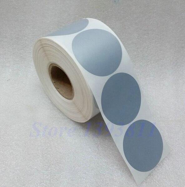 Round label sticker 5555mm diameter 5 5 cm matte silver sticker waterproof tearproof oilproof sealing sticker in copy paper from office school supplies